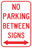 No Parking Between Signs - Sign Wise