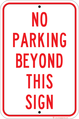 no parking beyond this sign