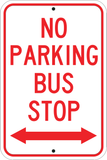 No Parking Bus Stop