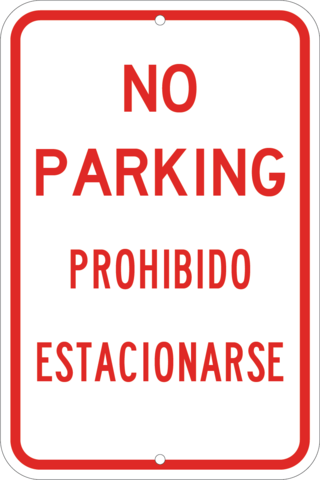 No Parking English/Spanish - Sign Wise