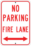 Fire Lane Arrows - Sign Wise