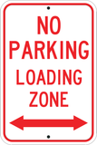 No Parking Loading Zone Arrows
