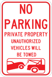 No Parking Private Property - Sign Wise