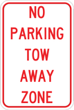 No Parking Tow Away Zone - Sign Wise