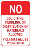No Soliciting - Peddling - Sign Wise