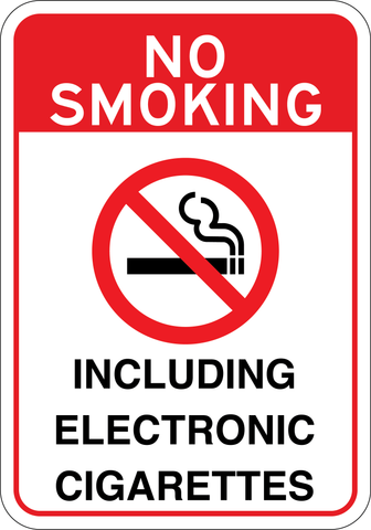 No Smoking Including Electronic Cigarette - Sign Wise