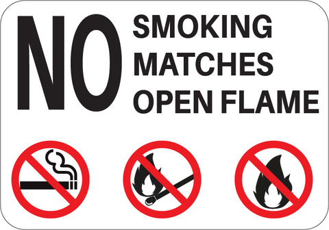 No Smoking Matches Open Flame