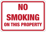 No Smoking On This Property - Sign Wise