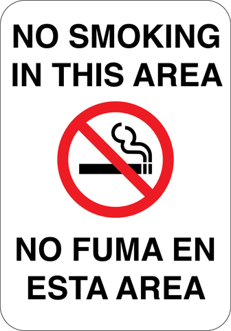 No Smoking English/Spanish - Sign Wise