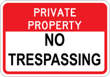 Private Property No Trespassing - Sign Wise