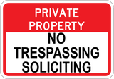 No Trespassing & Soliciting - Sign Wise