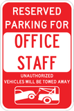 Office Staff Parking Only