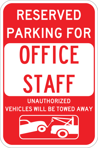 Office Staff Parking Only - Sign Wise