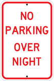 no parking overnight sign