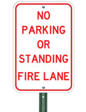 No Parking or Standing Fire Lane - Sign Wise