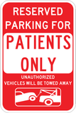 Patient Parking Only