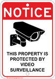 This Property Protected By Video Surveillance - Sign Wise