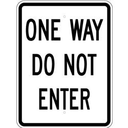 One Way Do Not Enter - Sign Wise