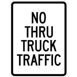 No Thru Truck Traffic - Sign Wise