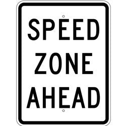 Speed Zone Ahead - Sign Wise