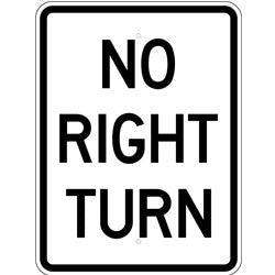 No Right Turn - Sign Wise