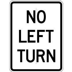 No Left Turn - Sign Wise