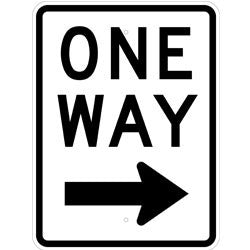 One Way Right Arrow - Sign Wise