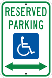 Reserved Parking Bothways Arrow - Sign Wise