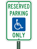 "Reserved Parking (R7-8),  12""x 18"", 3M Hi-Pris Reflective Sheeting Option - Sign Wise"