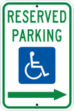 Reserved Parking Right Arrow - Sign Wise