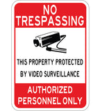 Video Surveillance Authorized Personnel Only