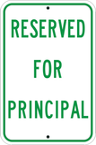 Reserved for Principal - Sign Wise