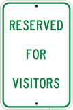 Reserved For Visitors - Sign Wise
