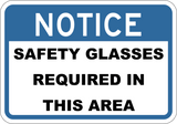 Safety Glasses Required In This Area - Sign Wise