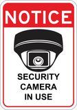 Security Camera in Use - Sign Wise
