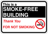 This is a Smoke-Free Building - Sign Wise