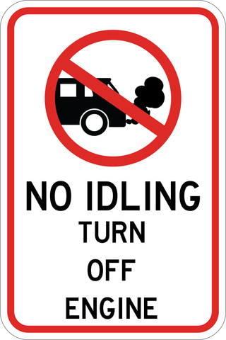 Turn Off Engine - Sign Wise