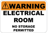 Electrical Room No Storage Permitted