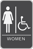Womens/Handicapped Restroom Sign ADA - Sign Wise