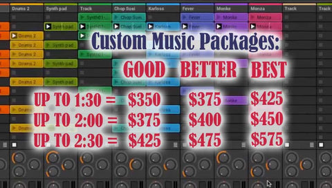 Custom Music Packages – Pro Cheer Inc