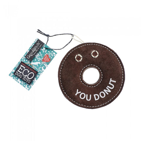 Green & Wild's Derrick The Donut -Eco Dog Toy- Made in UK *NEW*