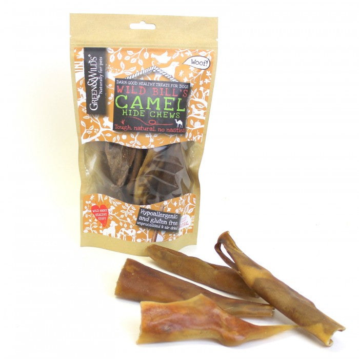 Green & Wild's Camel Hide Chews 100g Made in UK