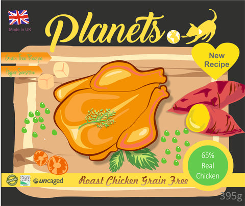 Planets Roast Chicken - Grain Free - Wet Dog Food 395g Made in UK