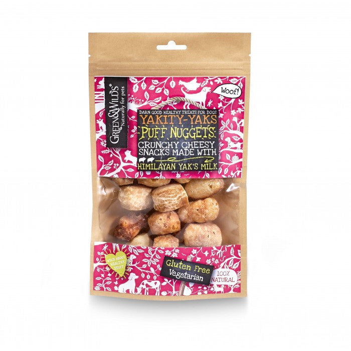 Green & Wild's Yakity Yak Puff Nuggets 75g Made in UK
