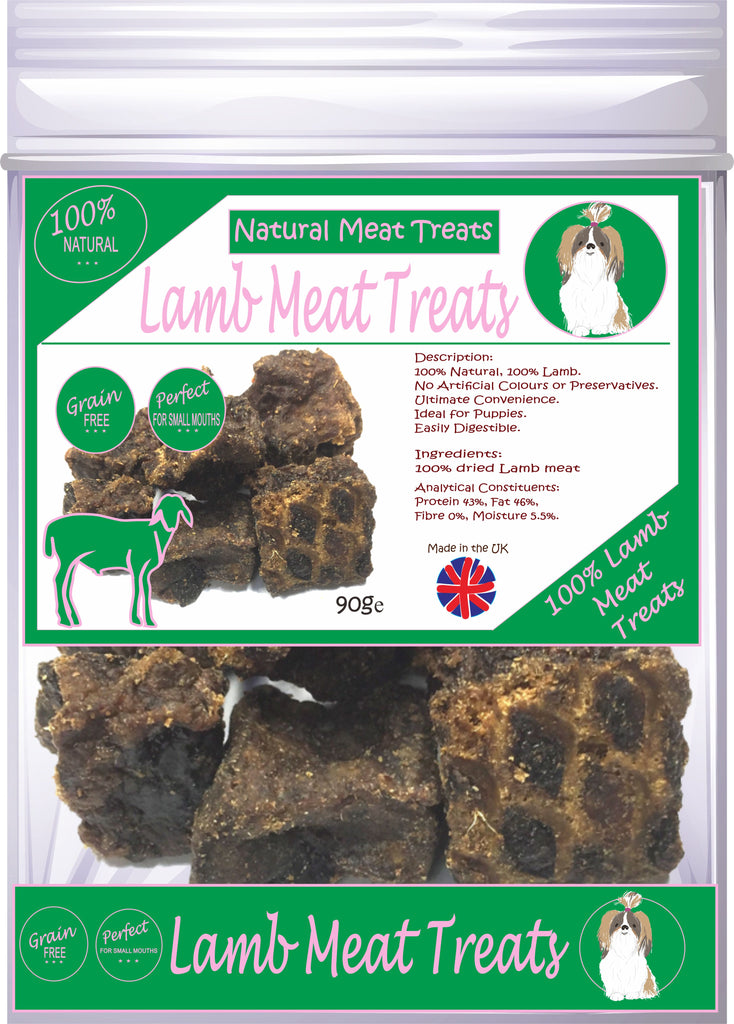 Natural Meat Treats 100% Lamb Meat Dog Treats 90g Made in UK