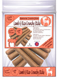 Natural - Lamb & Rice Crunchy Sticks - Dog Treats - 5 Per Pack - Made in UK
