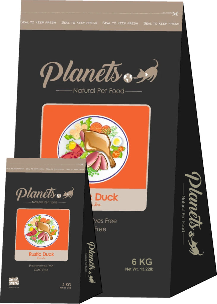 Planets Rustic Duck - Grain Free - Dry Dog Food 2kg / 6kg Made in UK