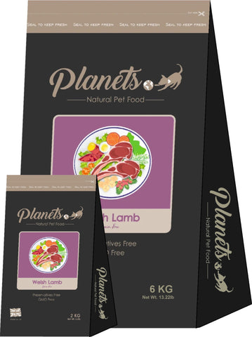 Planets Welsh Lamb - Grain Free - Dry Dog Food 2kg / 6kg Made in UK