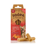 SOOPA - Natural Cranberry & Sweet Potato -  x4 Superfoods Dental Sticks for Dogs