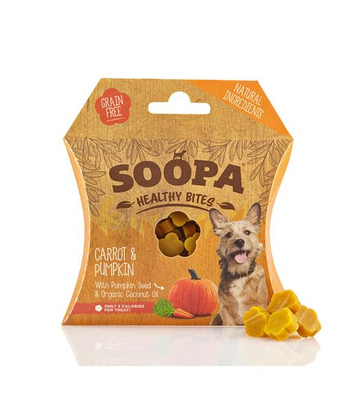SOOPA - Natural Carrot & Pumpkin - Healthy Bites for Dogs 50g